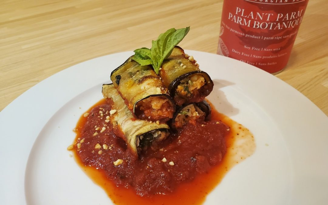 Vegan Eggplant and Plant Parm Roll