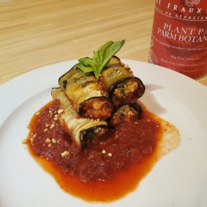 Vegan Eggplant and Plant Parm Roll