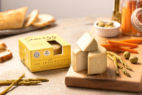 Dairy-free swiss cheese Frauxmage